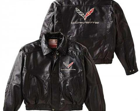 Corvette Classic Bomber Style Jacket, C7 Corvette Logo & Script