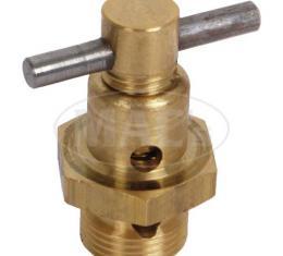 Model T Ford Carburetor Drain Valve & Plug Set - Brass - For Holley Vaporizer