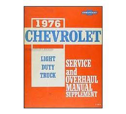 Chevy Truck Shop Manual Supplement, 1976