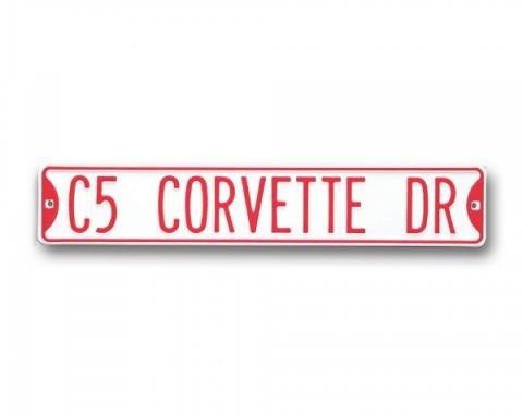 Corvette Street Sign, With C5 Corvette Drive