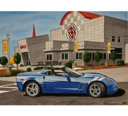 Corvette Jetstream Blue Grand Sport, Fine Art Print By Dana Forrester, 11x17