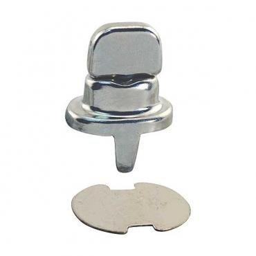 Model T Ford Side Curtain Fastener - Common Sense - Nickel - Clinch Type - Single