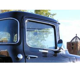 Door glass, one piece solid - 1956 Ford Truck - Clear