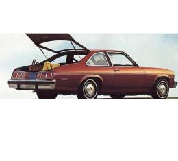 PUI 1975 Chevrolet Nova Fold Down Rear Seat Covers 75XS10F-1 | Black