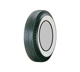 Tire, 670 X 15, 2-11/16 Whitewall, Tubeless, Goodyear Deluxe Super Cushion, 1955-56
