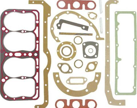 Model A Ford Engine Gasket Set - 22 Pieces - With Silicone Seal Head Gasket