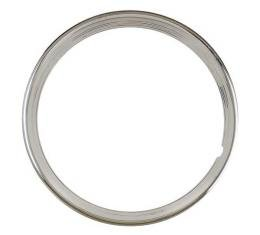 Wheel Trim Ring - Stainless Steel - 15 Ribbed - 4 Ribs - Ford