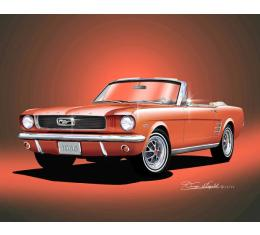 Mustang Convertible Fine Art Print By Danny Whitfield, 1966
