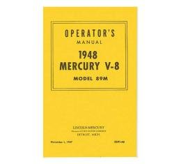 Operator's Manual, 1948 Mercury V8, Model 89M - 24 Pages