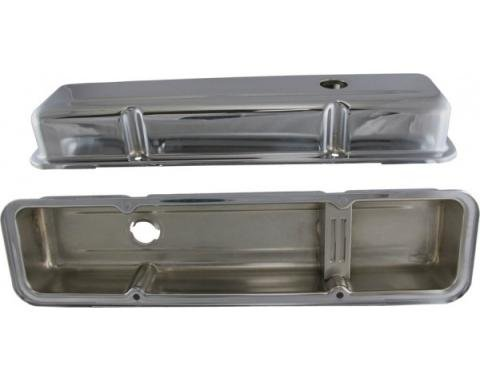 Corvette Valve Covers, Chrome Replacement, 350, 1968-1982