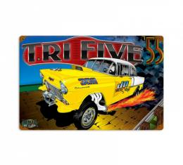 Chevy Metal Sign, 55 Gasser