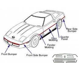 Corvette Body Moldings, Complete Kit, 1984