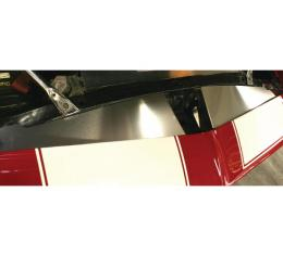 Camaro Core Support Filler Panel, 2 Piece, Black Anodized, 1967-1969