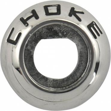 Ford Pickup Truck Choke Dash Knob Bezel - Chrome