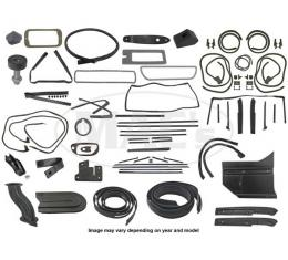 Thunderbird Complete Weather-Strip Kit, Convertible, Black Front Header Seal, 1965