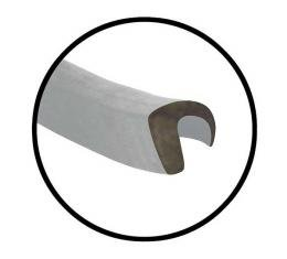 Upper Door Seal Pair - (2) 32-1/2 Pieces - Ford 3 Window Coupe