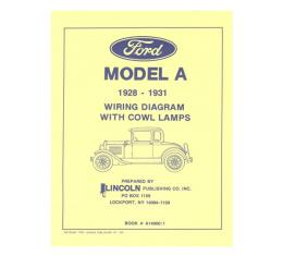 Model A Ford Electrical Wiring Diagram - For Cars With CowlLamps
