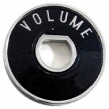Chevy Radio Volume Chrome Bezel With Plastic Insert, 1955-1956