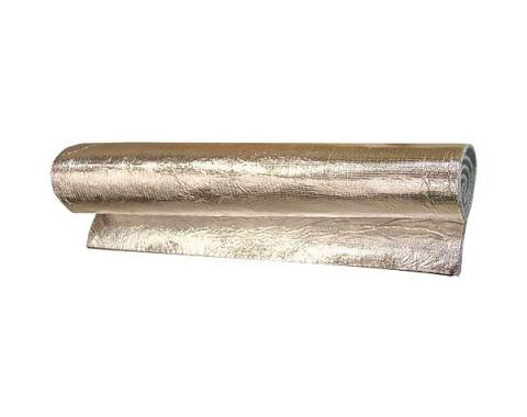 Insulation Sheet, Jute Fiber With Reflective Foil Bonded On Both Sides, 48 X 72 X 5/16 Thick, Cut to Fit
