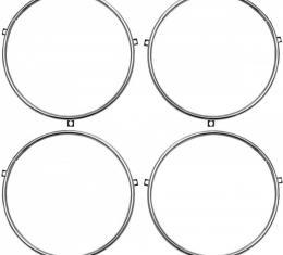 Full Size Chevy Headlight Retainer Rings, 1958-1966