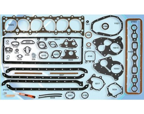 Chevy Or GMC Truck Engine Gasket Set, Complete, 216 & 235 CI, 1947-1953