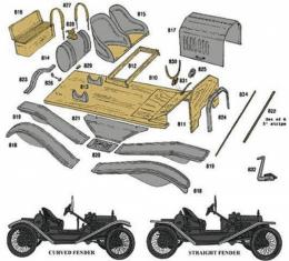 Model T Ford Speedster Body Kit - Complete - Includes Parts810-837