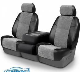 Corvette Coverking Alcantara Suede Seat Cover, With Manual Passenger Seat With Side Airbag, 2012-2013