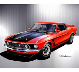 Mustang Boss 302 Fine Art Print By Danny Whitfield, 1969