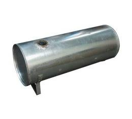 Model T Ford Gas Tank - 10-3/4 High X 10-3/4 Wide X 28 Long- Round - Attached Sediment Bowl - No Cap - Brackets Attached