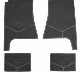 Legendary Auto Interiors Chevelle Vinyl Floor Mat With Chevelle Script, 1968-1969