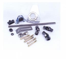 Flaiming River 1955-56 Chevy Manual Rack & Pinion Cradle Kit - Polished Floor Shift Tilt Column