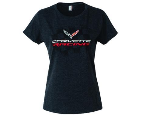 Corvette Racing Ladies T-Shirt, Heather Black