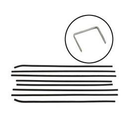 Belt Weatherstrip Kit - Replacement Type - 8 Pieces - Convertible & Sunliner - Ford