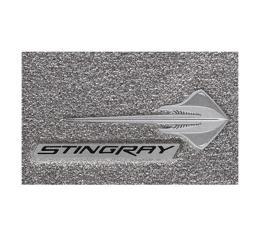 Lloyd Mats, Gray Floor Mats, Stingray Logo With Black Stingray Script  V0668170 Corvette Stingray Only 2014-2017