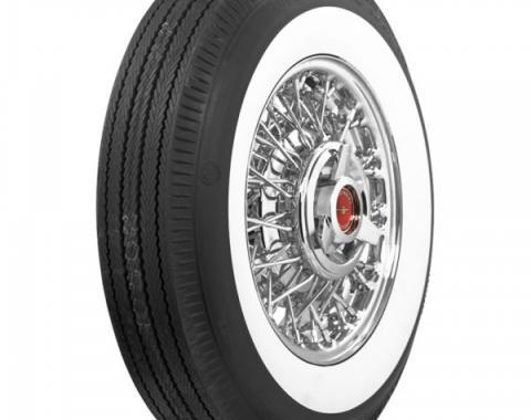 Tire, 670 X 15, 2-11/16 Whitewall, Tubeless, US Royal, 1955-56
