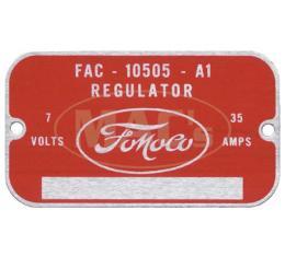 Generator Voltage Regulator Tag - Ford Only