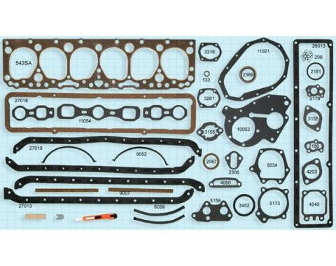 Chevy Engine Gasket Set, 235 CI, 1955-1957