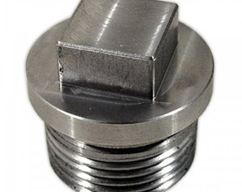Corvette Rear End Drain Plug, Stainless Steel, 1965-1979