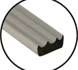 Universal Door Seal - Ribbed - 3/8 X 3/16 X 20' Roll - Peel& Stick Adhesive Backing - Ford & Mercury