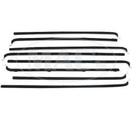PUI 55-56 FORD 4 DR SEDAN WIN 990954 | Belt Weatherstrip Kit - 8 Pieces - Front And Rear Door Windows - Ford 4 Door Sedan & Station Wagon
