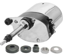 Electric Windshield Wiper Motor - 12 Volt - Replacement Type - Stainless Steel - Ford