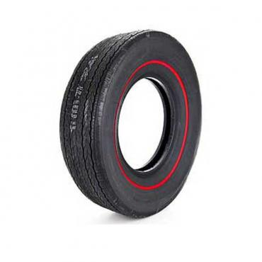 Chevelle Tire, Firestone Wide Oval, G70X14, Redline, All Years