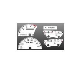 Chevrolet® Truck White Face Gauges Instrument Cluster Overlay,1992..1994