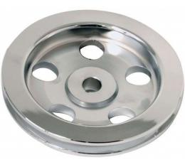 Chevelle Power Steering Pump Pulley, Billet, Polished, 1964-1972