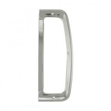 Ford Pickup Truck Tail Light Bezel - Anodized Aluminum - 3 Screw Hole Mount - Right - Styleside With Tailgate Mouldings