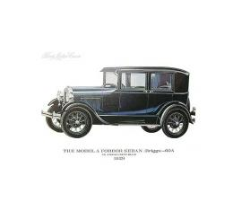 Model A Print - 1929 Ford Fordor Briggs Sedan (60A) - 11 X 14 - Unframed
