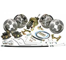 "Nova Power Disc Brake Conversion Kit, Complete, 4-Wheel, Drop Spindles, 11"" Brake Booster, 1962-1964"