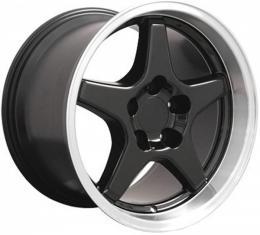 Corvette 17X11 ZR1 Style Deep Dish Wheel, Black, 1988-1996