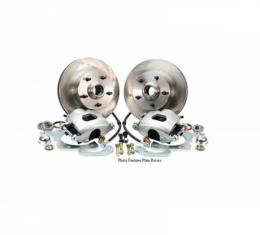 Ford Mustang - Legend Series Front Disc Brake Conversion Kit With Drilled And Slotted Rotors, Basic, V8, 1970-1973