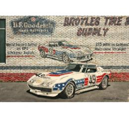 Corvette The Life Saver, Fine Art Print By Dana Forrester, 11x17